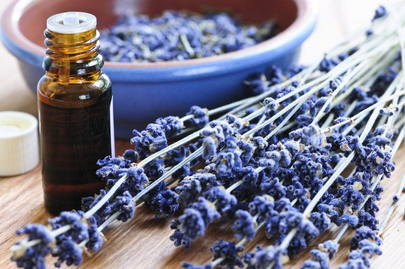 clean with lavender oil