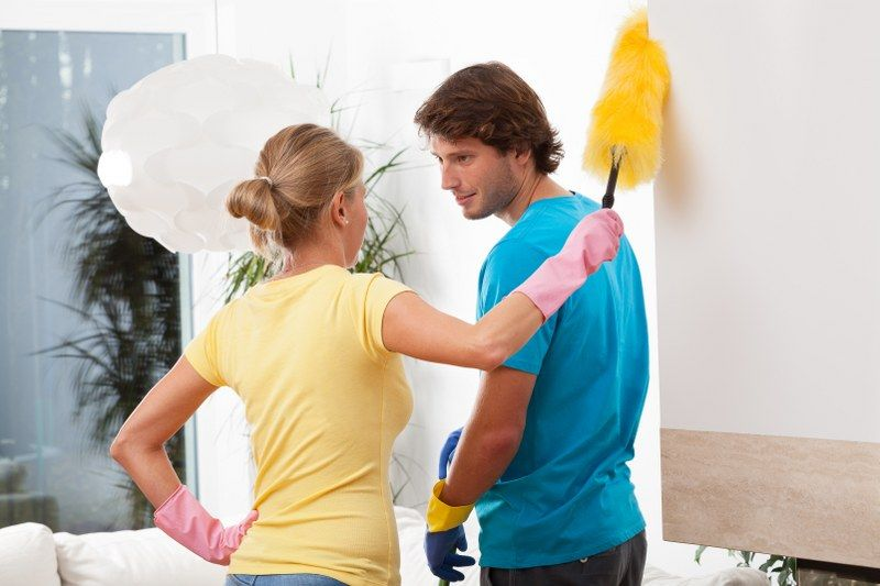 sharing domestic cleaning chores