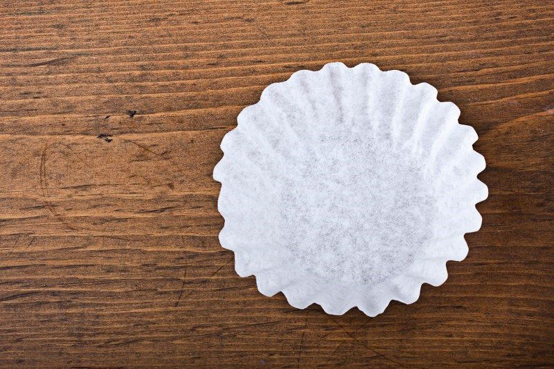 coffee filters as plates